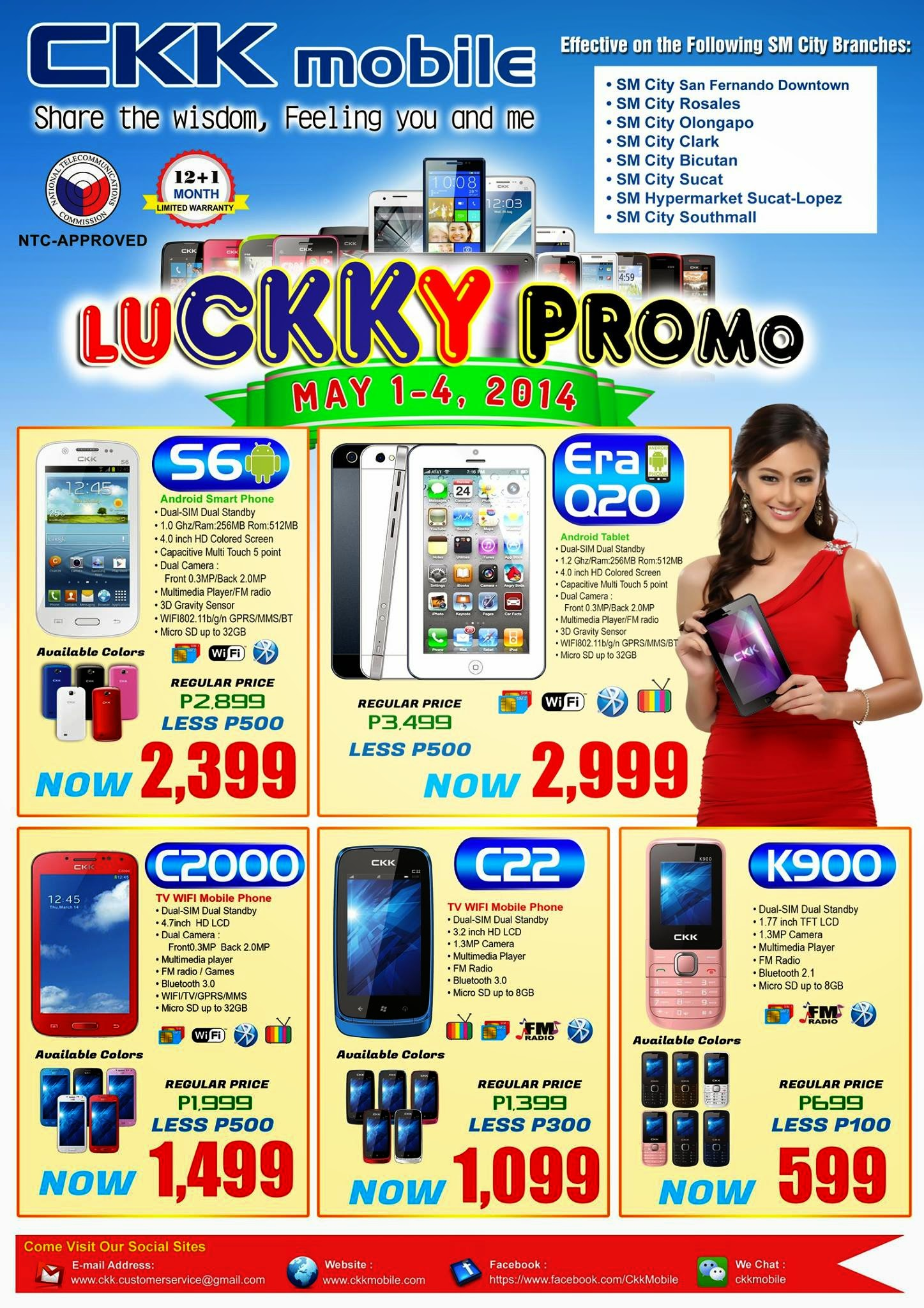 Image of CKK Mobile LuCKKy Promo Sale for May 2014