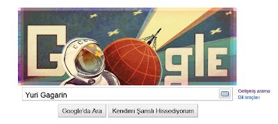 Google Yuri Gagarin Logosu