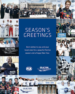 открытка SEASON'S GREETINGS от FIA 2011