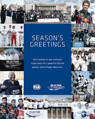 открытка SEASON'S GREETINGS от FIA 2011