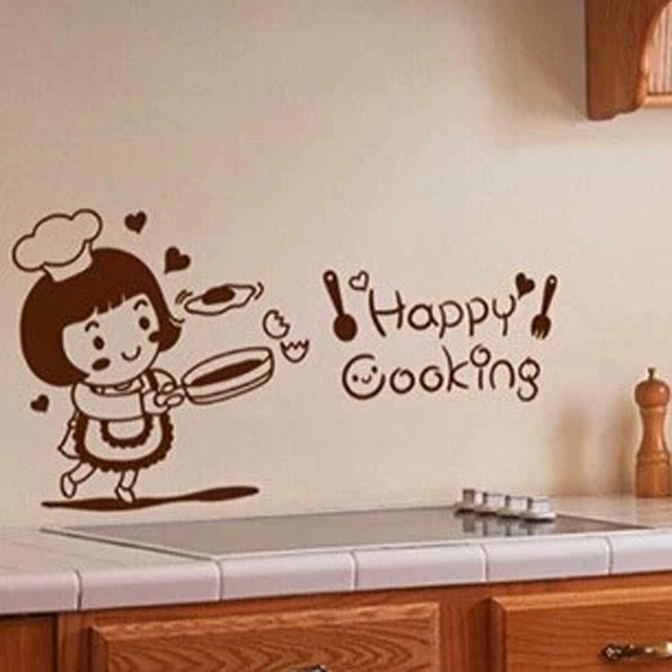 Cartoon Wall Stickers Home Decor Kitchen Cabinet Ceramic