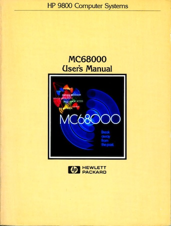 HP 9800 User's Manual for M68000 CPU