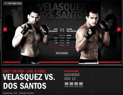 Cain Velasquez vs. Junior dos Santos (2011) PL.TVRip.XviD / Lektor PL