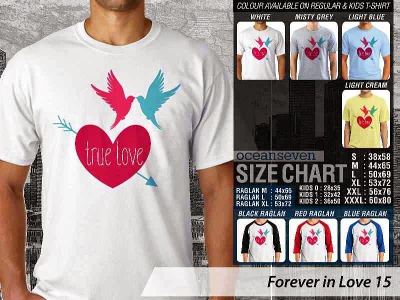 KAOS Serasi True love |KAOS Forever in Love 15 distro ocean seven