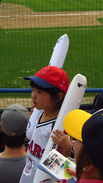 A young Doosan Bears fan.