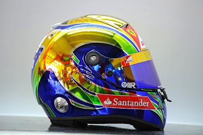 юбилейный шлем Фелипе Массы на Гран-при Бразилии 2011 - вид сбоку