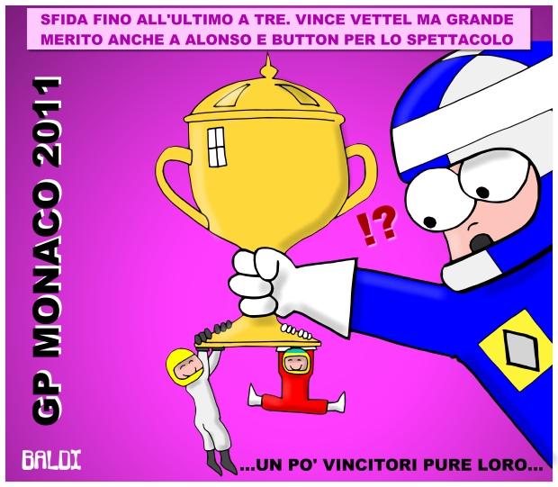 Себастьян Феттель Фернандо Алонсо Дженсон Баттон Монте-Карло комикс Baldi по Гран-при Монако 2011