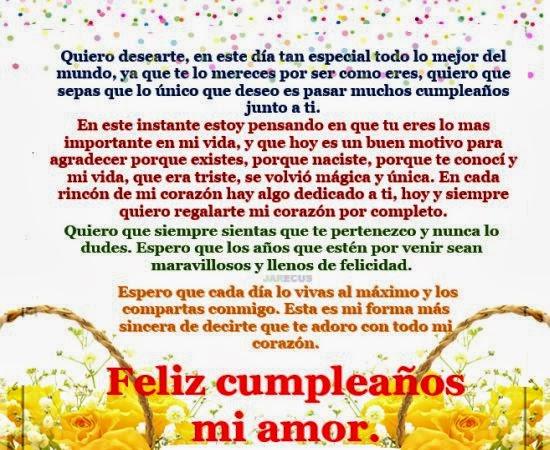 Bellas frases de cumpleaños para novio ~ Frases de cumpleaños