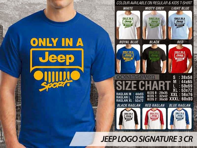 jual kaos jeep Logo Signature 3 distro