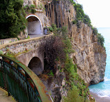 Road, Tunnel, Cliff, and Coast - Amalfi Coast, Italy