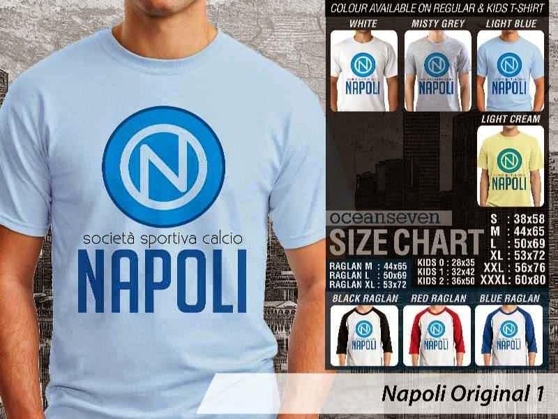 kaos bola bola Napoli 42 Logo Klub Bola distro ocean seven
