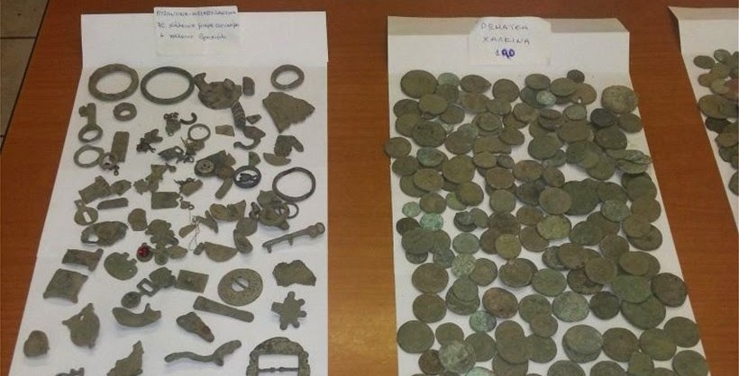 Elderly Greek man arrested after discovery of antiquities hoard