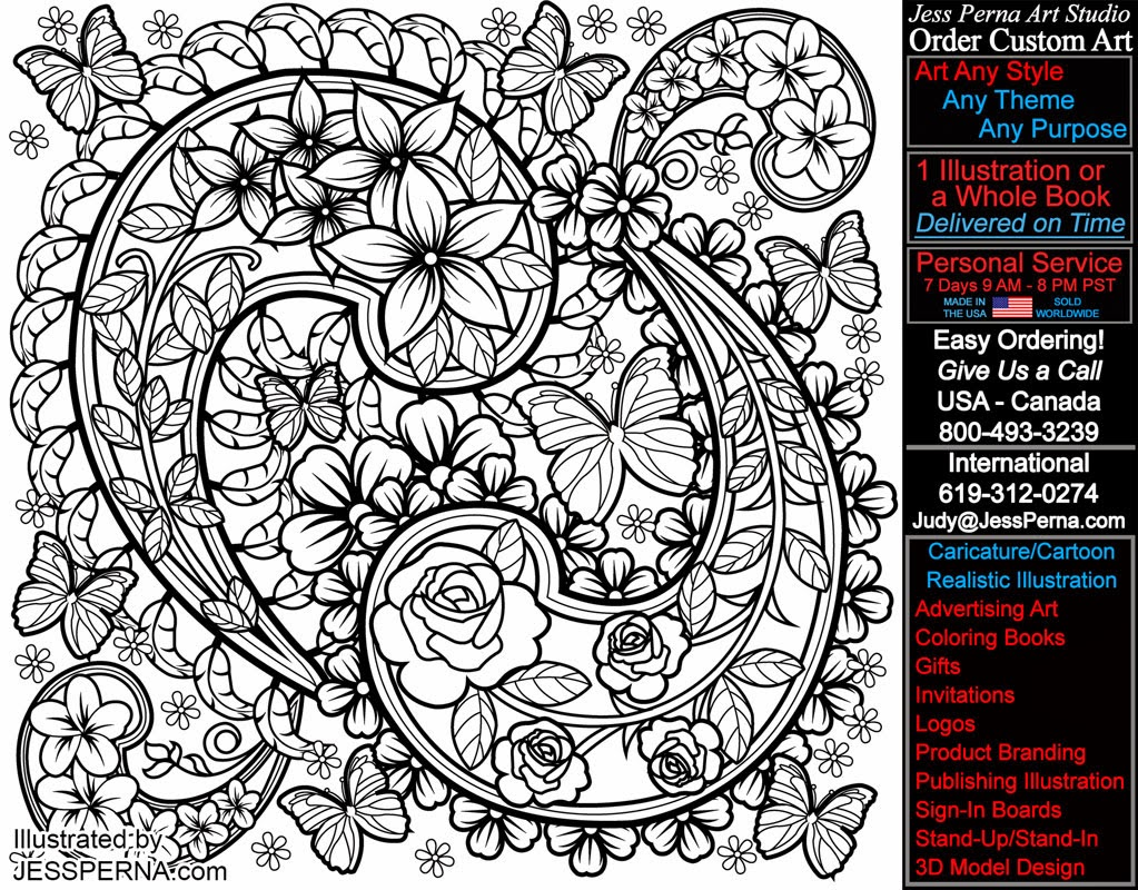 Adult Coloring Pages Flowers, Paisley, Stained Glass and  - paisley coloring pages for adults