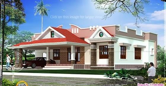 single storied 2 bedroom house elevation kerala home