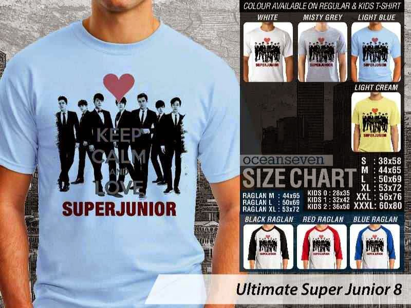 Kaos K Pop SUJU Ultimate Super Junior 8 Boy Band Asal Korea distro ocean seven