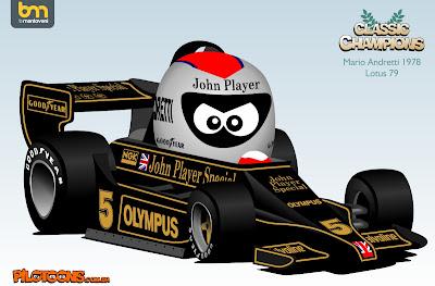 pilotoons Марио Андретти 1978 Lotus 79