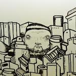Streetart w metrze.