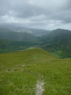 Path descending from Hartsop Dodd