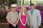 Celebrity Guest Lt. Gen Robert E. Milstead, 2014 Azalea Queen Kirsten Haglund, President Steve Coble