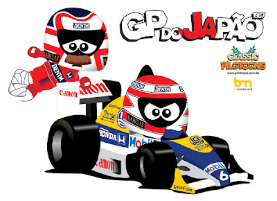 pilotoons Найджел Мэнселл и Нельсон Пике на Гран-при Японии 1987
