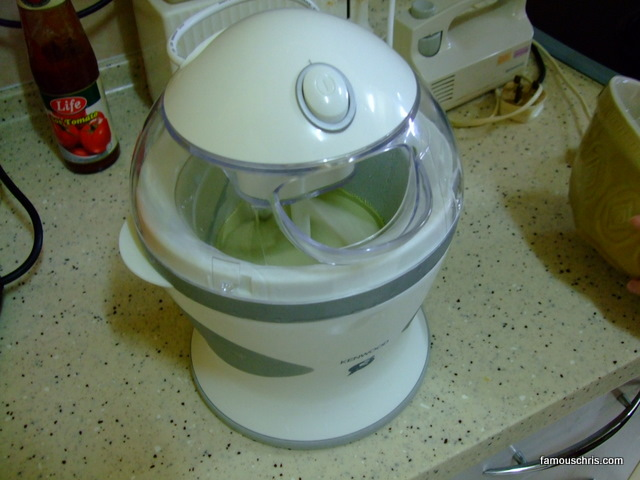 making green tea ice cream