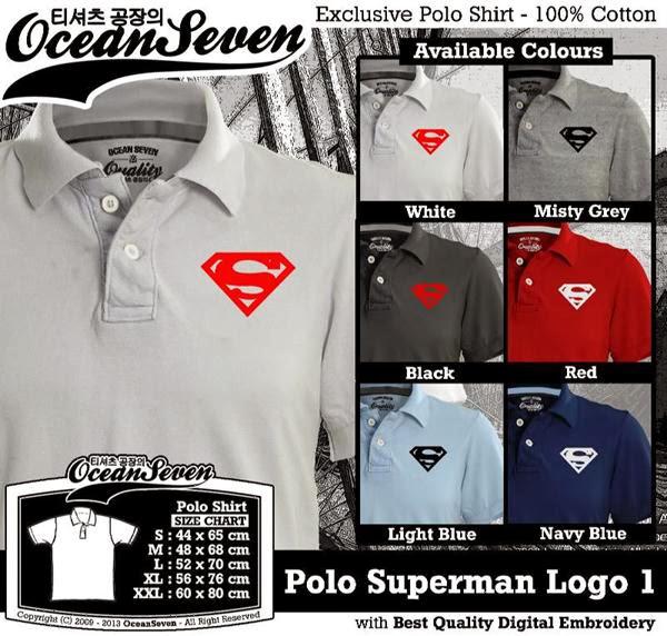 POLO Superman Logo distro ocean seven