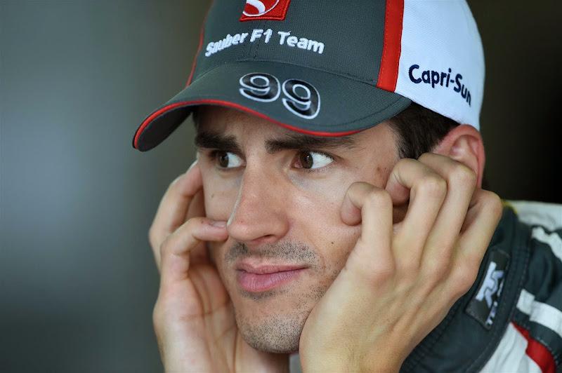 заинтересованный взгляд Адриана Сутиля на Гран-при Монако 2014