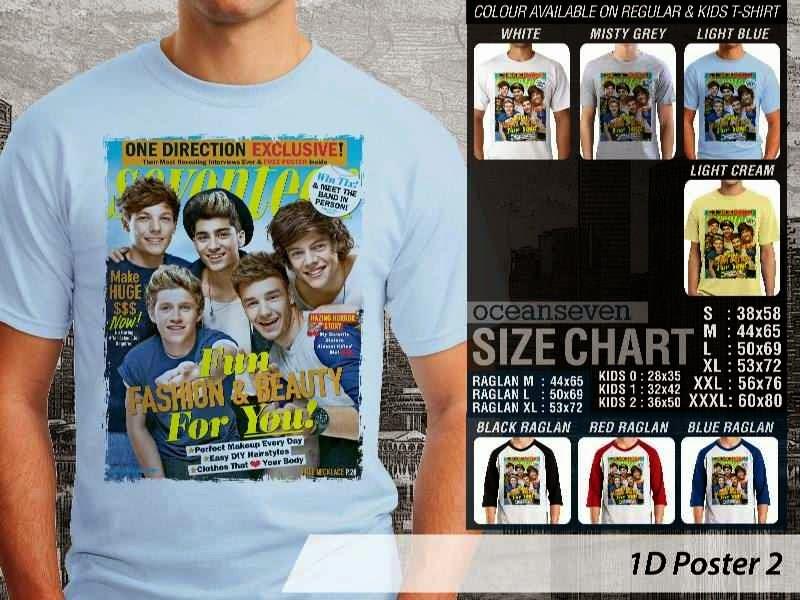 Jual kaos 1D One Direction 2 Musik Boy Band