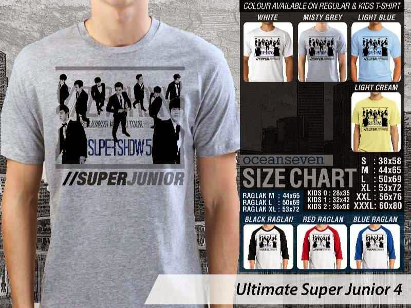 Kaos K Pop SUJU Ultimate Super Junior 4 Boy Band Asal Korea distro ocean seven
