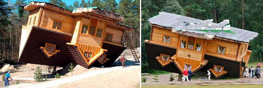 Dark roasted blend upside down other weird houses for 0 down homes