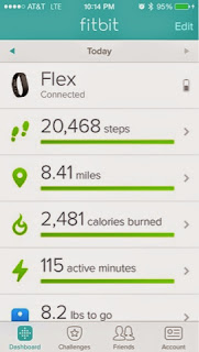 FitBit, app screen