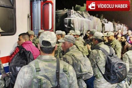 Çankırı Merkezden  Zırhlı araç ve askeri personeller tren yoluyla