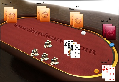 FDPoker - Table screen