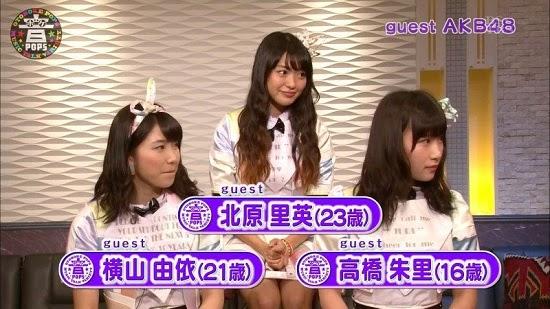 (TV-Variety)(720p) 横山由依 北原里英 高橋朱里 – 音ボケPOPS 140914