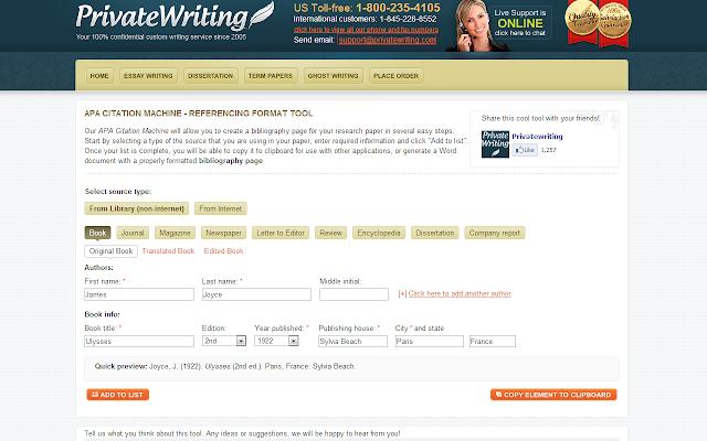 free apa style citation machine