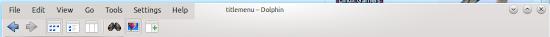 KDE menu titlebar