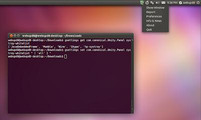 Настройка Unity в Ubuntu 11.04 Systray1
