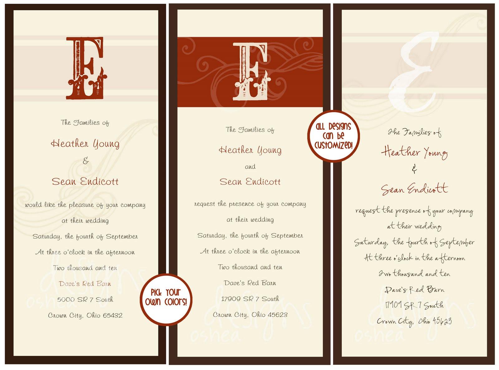 example wedding rsvp cards