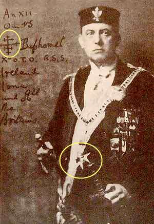 Aleister Crowley, like leading NaZis a Knight Templar of the Maltese Order?