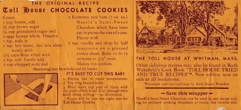 Original Toll House Chocolate Cookies Recipe