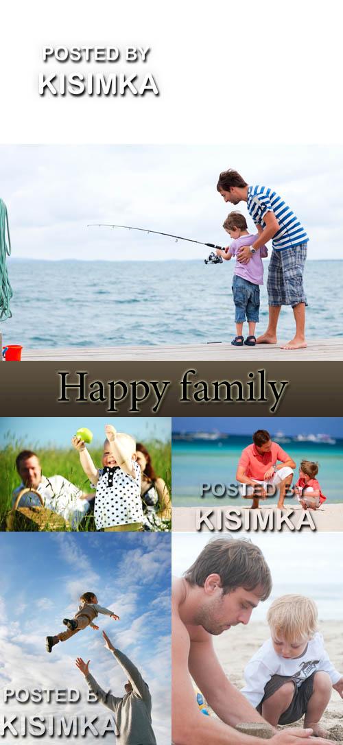 Stock Photo:Happy family