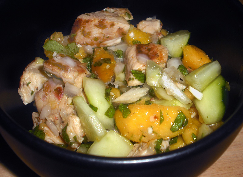 Chicken Peach Salad