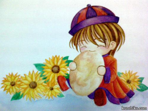 tai yang bing - watercolor process - outlining progress