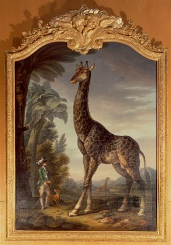 French Giraffe Mania in 1827 à la Vintage Postcards