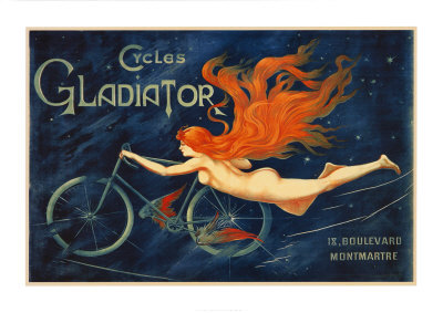 Bicycle Vintage Postcard