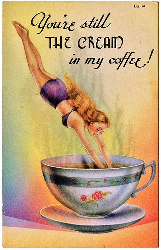 Cup of Mud Vintage Postcard
