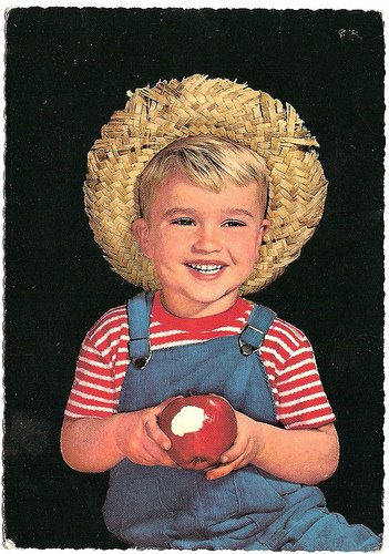 Baked Apple Vintage Postcard