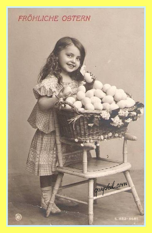 Vintage Postcard Scrambled Eggs