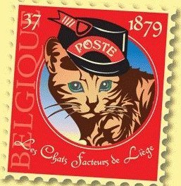 The Mail Cats of Belgium - 1879