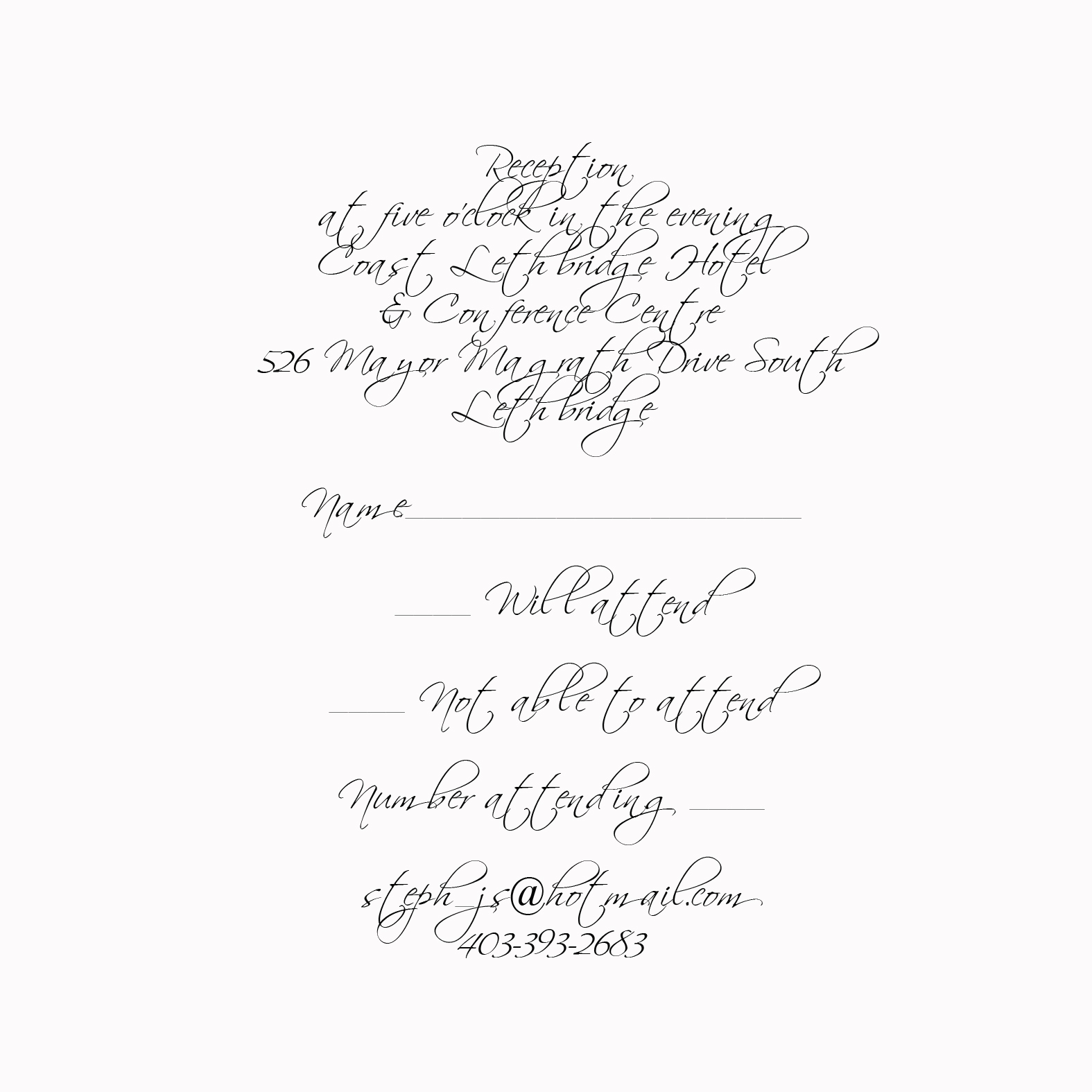 sample wedding invitations